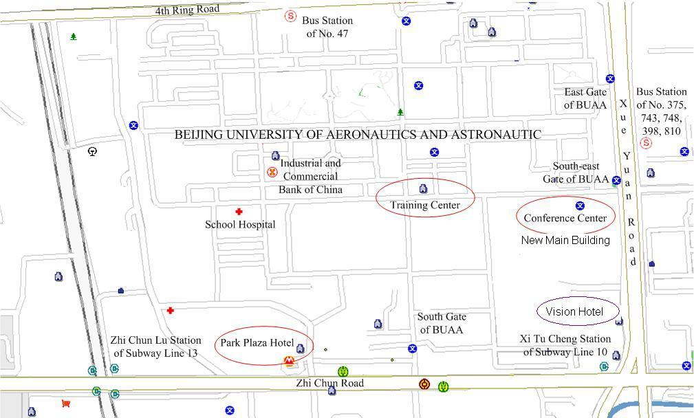 Tsinghua University Campus Map.Hotel And Travel Information Ist 2013